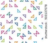 seamless pattern with random...   Shutterstock .eps vector #503137078