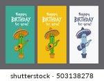 greeting card happy birthday.... | Shutterstock .eps vector #503138278