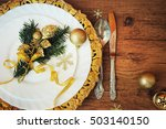 family holiday  christmas table ... | Shutterstock . vector #503140150