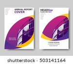 yellow and purple annual report ... | Shutterstock .eps vector #503141164