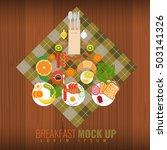 vector breakfast concept with... | Shutterstock .eps vector #503141326
