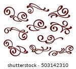 design elements.brown white.... | Shutterstock .eps vector #503142310