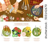 creative cooking  chef cooks... | Shutterstock .eps vector #503142670