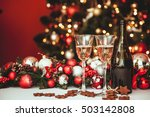 christmas still life   two... | Shutterstock . vector #503142808