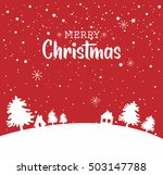 christmas background. snow... | Shutterstock .eps vector #503147788