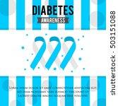 diabetes awareness poster...   Shutterstock .eps vector #503151088