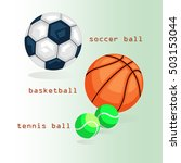 sports balls. football ... | Shutterstock .eps vector #503153044