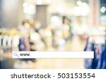 Small photo of Blur store and bokeh light with address bar, online shopping background, business, E-commerce