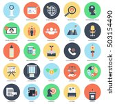flat conceptual icon set of... | Shutterstock .eps vector #503154490