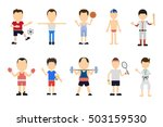 isolated sport set on white... | Shutterstock .eps vector #503159530
