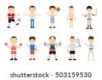 isolated sport set on white... | Shutterstock .eps vector #503159530