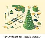christmas  vector flat...   Shutterstock .eps vector #503160580