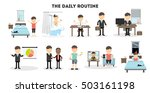 businessman daily routine. life ...