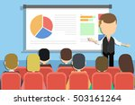business presentation concept.... | Shutterstock .eps vector #503161264