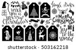 christmas icons  tags  patches  ... | Shutterstock .eps vector #503162218