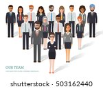 group of business men and women ... | Shutterstock .eps vector #503162440