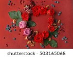 composition of roses  figs ... | Shutterstock . vector #503165068
