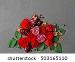 composition of roses  figs ... | Shutterstock . vector #503165110