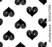 monochrome seamless pattern... | Shutterstock .eps vector #503167390