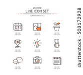competition line icon set | Shutterstock .eps vector #503172928
