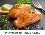 Delicious Cooked Salmon Fish...