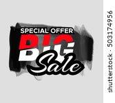 grunge ink design big sale... | Shutterstock .eps vector #503174956