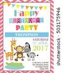 happy birthday party | Shutterstock .eps vector #503175946