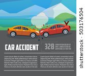 car accident infographics. car... | Shutterstock .eps vector #503176504