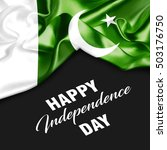 pakistan happy independence day | Shutterstock . vector #503176750