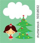 christmas cute angel greeting... | Shutterstock .eps vector #50318032