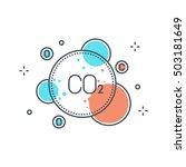 color line  pollution concept... | Shutterstock .eps vector #503181649