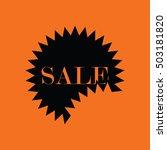 sale tag icon. orange... | Shutterstock .eps vector #503181820