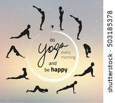 vector illustration of yoga... | Shutterstock .eps vector #503185378