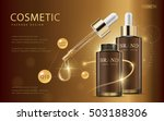 cosmetic ads template  glass... | Shutterstock .eps vector #503188306