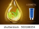 cosmetic ads template  cosmetic ... | Shutterstock .eps vector #503188354