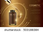 cosmetic ads template  glass... | Shutterstock .eps vector #503188384