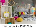 modern student home with diy... | Shutterstock . vector #503193214