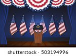 president podium on stage with...   Shutterstock .eps vector #503194996