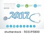 stethoscope heart creative... | Shutterstock .eps vector #503195800