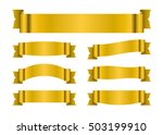 ribbon gold banners set. sign... | Shutterstock .eps vector #503199910