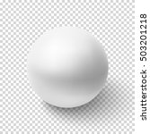 realistic white sphere isolated ... | Shutterstock .eps vector #503201218