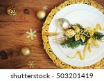 family holiday  christmas table ... | Shutterstock . vector #503201419