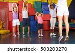 kids gymnastics with group of... | Shutterstock . vector #503203270