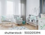 shot of a bright child's room... | Shutterstock . vector #503205394