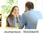 romantic girl falling in love... | Shutterstock . vector #503206654