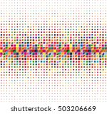 colorful halftone background ... | Shutterstock .eps vector #503206669