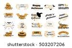 halloween typography  lettering....   Shutterstock .eps vector #503207206