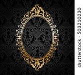 vector gold frame on black... | Shutterstock .eps vector #503210230