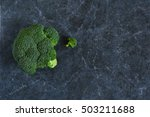 fresh  organic raw broccoli on... | Shutterstock . vector #503211688