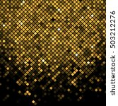 vector black   gold mosaic... | Shutterstock .eps vector #503212276